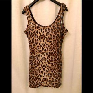 Cheetah print sequin dress